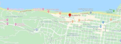 departamento costas del nahuel bariloche mapa de ubicacion