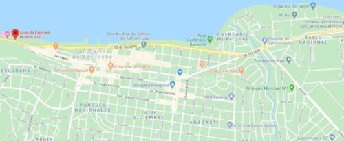hosteria costas del nahuel bariloche mapa de ubicacion