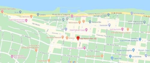 hotel cambria bariloche mapa de ubicacion