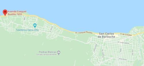 La Casona Hostel Bariloche -mapa de ubicación